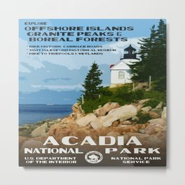 Vintage poster - Acadia National Park Metal Print