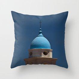 Blue dome, blue skies Throw Pillow