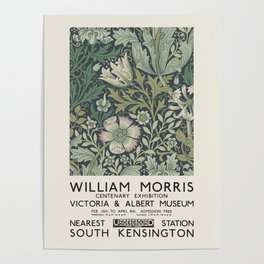 William Morris - Exhibition poster for The Victoria and Albert Museum, London, 1934 Poster