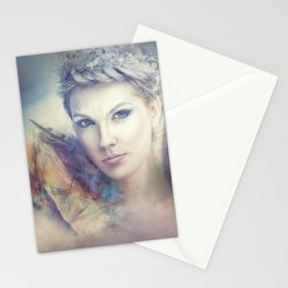 Lady feather Stationery Cards