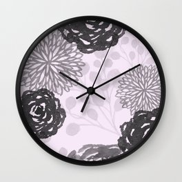 Blooming Lilac Garden  Wall Clock