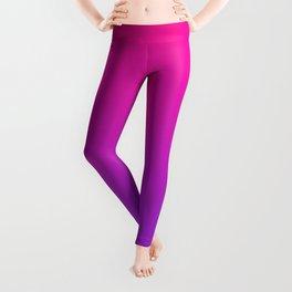 Plastic Pink Proton Purple Ombre Gradient Neon Pink Ultra Violet Pattern Leggings