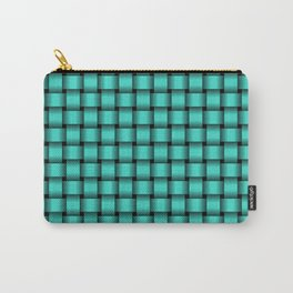 Small Turquoise Weave Carry-All Pouch