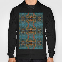 The Spindles- Blue and Orange Filigree  Hoody