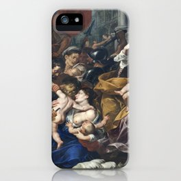 Milan - paint of Massacre of the Innocents from San Eustorgio church iPhone Case