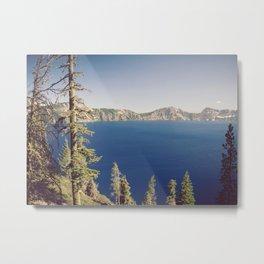 Beautiful Blue Crater Lake Metal Print