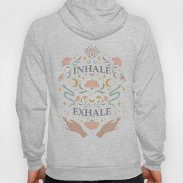 Breathe, inhale exhale yogi zen master poster white Hoody