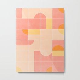 Retro Tiles 02 #society6 #pattern Metal Print