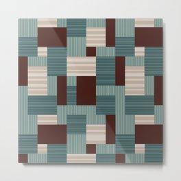 Geometric Midcentury Pattern 3 Metal Print