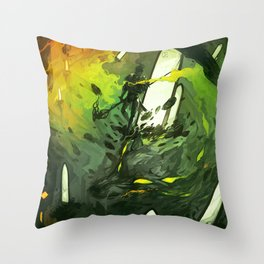 Where All Started Where All Ends Throw Pillow
