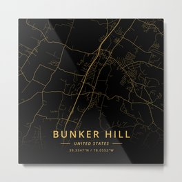 Bunker Hill, United States - Gold Metal Print