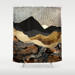 Copper and Gold Mountains Shower Curtain
