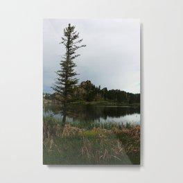 Moody Evening  At Sylvan Lake Metal Print