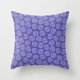 Blue Chalk Spiral Swirl Pattern Throw Pillow