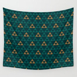 The Golden Power (Green) Wall Tapestry
