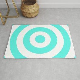 Target (Turquoise & White Pattern) Rug
