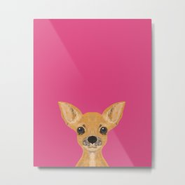 Lulu - chihuahua, cute pet cute dog cell phone case, gift for dog people Metal Print
