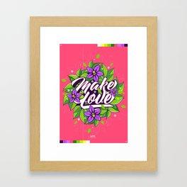 Make Love - Flume Framed Art Print
