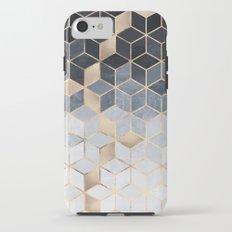 Soft Blue Gradient Cubes iPhone 7 Tough Case