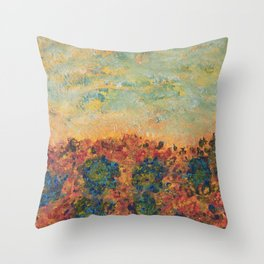 Flowers of Provence Throw Pillow