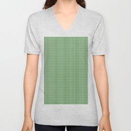 Green Tartan Christmas Pattern Unisex V-Neck