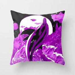 Dolphin Dance - Purple Palette Throw Pillow