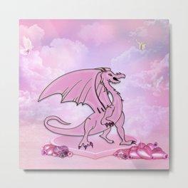 Cute little cartoon dragon Metal Print