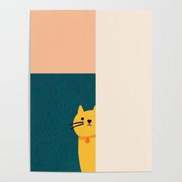Little_Cat_Cute_Minimalism Poster