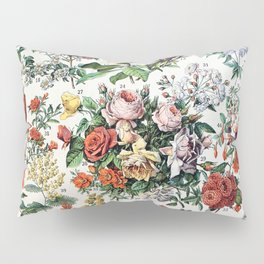 Adolphe Millot - Fleurs C - French vintage poster Pillow Sham