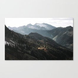 Blue Trinities Canvas Print