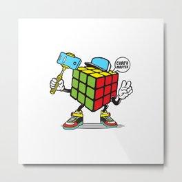 Funny Rubik's Cube Metal Print