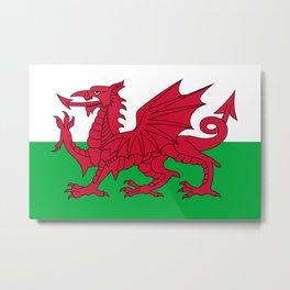 Flag of Wales - Welsh Flag Metal Print