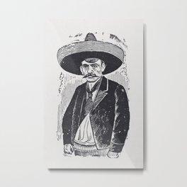 Emiliano Zapata by Jose Guadalupe Posada Metal Print