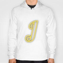 Letter J in Yellow Hoody
