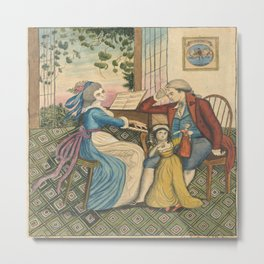 Classical Illustrated Image Metal Print