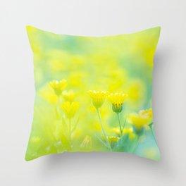 Yellow spring - Nature Fine Art photography Throw Pillow