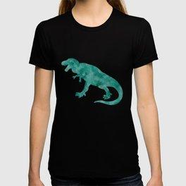 Watercolor Dinosaur Blue Green Dino Pattern T-shirt