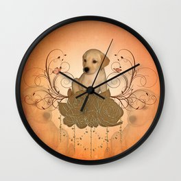 Cute little puppy Wall Clock