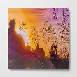 Joshua Tree Curtain of Shrubbery Metal Print