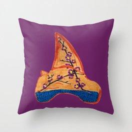 Shark Tooth Terrarium 3 Throw Pillow