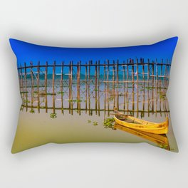 U-Bein Bridge Rectangular Pillow