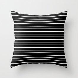 black and white stripe pattern black - striped design Throw Pillow