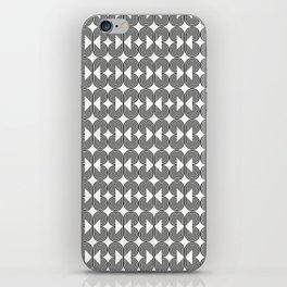 Piece of Pie Black on White iPhone Skin