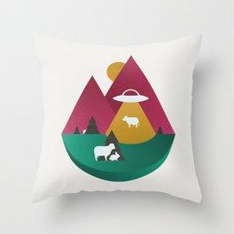 The UFO Throw Pillow