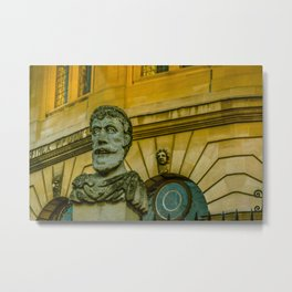 Emperor Heads Sheldonian Theatre Oxford University England Metal Print