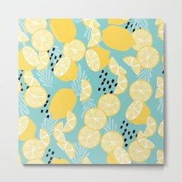 Lemon Pattern 06 Metal Print