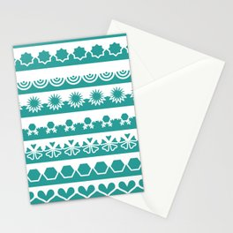 Seamless laces on the green background Stationery Cards