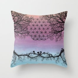 The Network of Life Throw Pillow