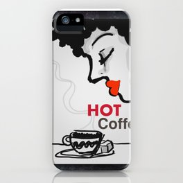 Hot coffee iPhone Case