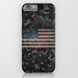 Night Hybrid Patriotic Flag Camo iPhone Case